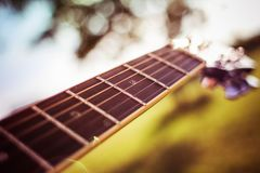 Acoustic, Acoustic, Guitar, Blur Royalty Free Stock Images