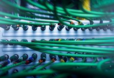 Acoustic audio cable server. Royalty Free Stock Image