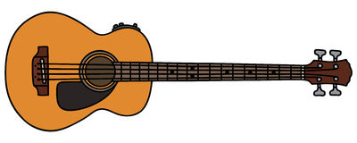 Acoustic bass guitar Stock Photos