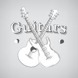 Acoustic and Bass Guitars Stock Image
