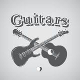 Acoustic and Bass Guitars Royalty Free Stock Photos