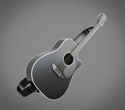 Acoustic classic guitar illustration Royalty Free Stock Photography
