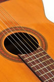 Acoustic classical guitar. Closeup of wooden acoustic classical guitar Stock Photo
