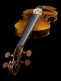 Acoustic Classical Violin perspective view Royalty Free Stock Photo