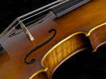 Acoustic Classical Violin side Stock Photo