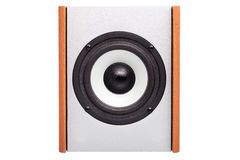 Acoustic column with white loudspeaker. Stock Images