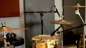 Acoustic Drum Set stock video footage