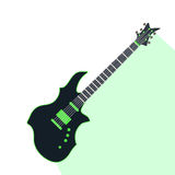 Acoustic electric guitar vector icons isolated illustration guitars silhouette music concert sound retro musical bass Stock Photo