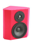 Acoustic equipment. Red dynamic loudspeaker/the musical acoustic equipment Stock Image