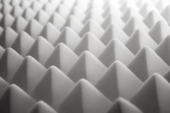 Acoustic foam. Tetrahedron shaped foam royalty free stock images