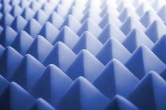 Acoustic foam - blue. Tetrahedron shaped foam Stock Photo