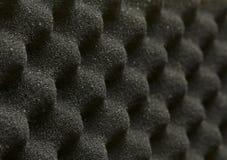 Acoustic foam. Closeup acoustic foam plastic grain background Royalty Free Stock Photo