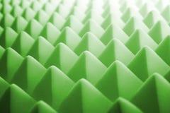 Acoustic foam - green. Tetrahedron shaped foam Stock Image