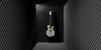 Acoustic Foam Room With Mounted Electric Guitar Stock Photography
