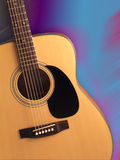 Acoustic folk guitar (with path) stock photo