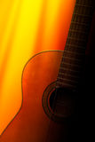 Acoustic guitar. Classic Acoustic guitar under sunlight Stock Photos