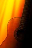 Acoustic guitar. Classic Acoustic guitar under sunlight Stock Photos