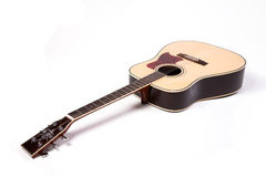 Acoustic guitar. On white background Royalty Free Stock Images