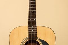 Acoustic guitar. With strings Royalty Free Stock Images