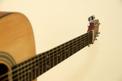 Acoustic guitar. With strings Stock Photography