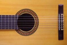 Acoustic guitar. Close up and detail Royalty Free Stock Photos