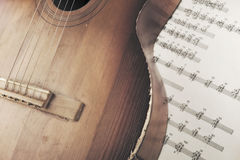 Acoustic guitar Royalty Free Stock Photography