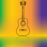 Acoustic guitar. Illustration of acoustic guitar music as a symbol of the abstract background Royalty Free Stock Photos