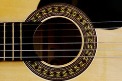 Acoustic Guitar. With dark background Stock Photos