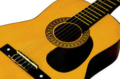 Acoustic Guitar. With light background Royalty Free Stock Images