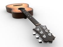Acoustic guitar. 3d render illustration Stock Image