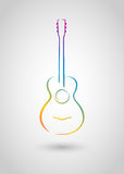Acoustic guitar. ( object); web icon or logo template Stock Photo