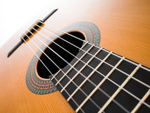 Acoustic guitar. Abstract background royalty free stock photo
