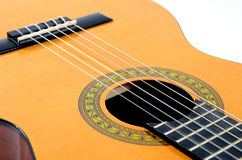 Acoustic guitar. Detail of an acoustic guitar Royalty Free Stock Image