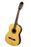Acoustic Guitar. Classical acoustic guitar on white background Royalty Free Stock Photography