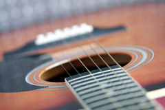 An acoustic guitar Stock Photos