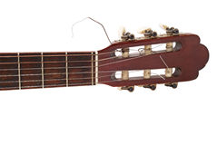 Acoustic guitar. Neck - clipping path Royalty Free Stock Photos