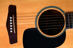 Acoustic Guitar. Close up of acoustic guitar Stock Images