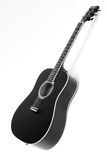 Acoustic Guitar. On White Background. Black and White stock images