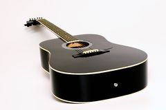 Acoustic Guitar. On White Backgroud royalty free stock image