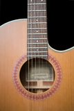 Acoustic Guitar. Acoustic steel string guitar Royalty Free Stock Photo