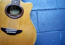 Acoustic Guitar. Semi Acoustic Guitar - Colour Stock Photos