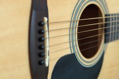 Acoustic guitar. With strings Royalty Free Stock Image