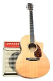 Acoustic Guitar and Acoustic Instrument Amplifier Stock Photos
