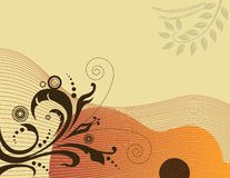 Acoustic guitar background Stock Photos