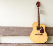 Acoustic guitar background Stock Photography
