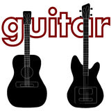 Acoustic guitar and bass guitar Royalty Free Stock Photo