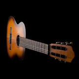 Acoustic guitar. On black  background Stock Photography