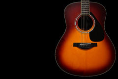 Acoustic Guitar on Black Background Royalty Free Stock Photo