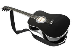Acoustic guitar black color Royalty Free Stock Image
