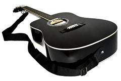 Acoustic guitar black color Royalty Free Stock Images